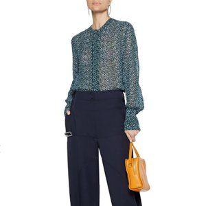 Proenza Shoulder leopard Georgette silk blouse